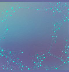 technology abstract background with connected line vector image