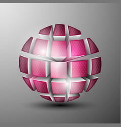 the 3d sphere vector image