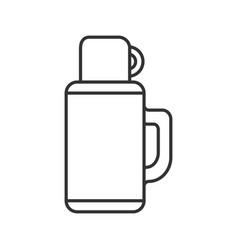 Thermos linear icon vector