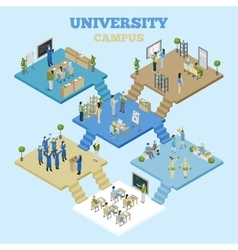 University Isometric vector