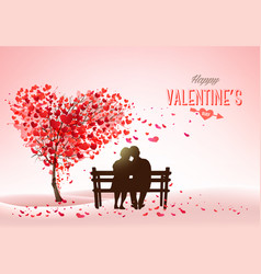 Valentines day holiday background with heart vector