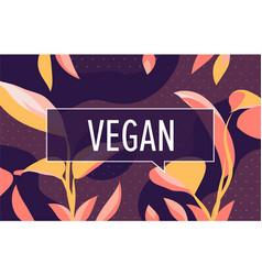 vegan in design banner template for web vector image