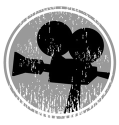 Vintage cinema cam vector