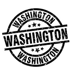 Washington black round grunge stamp vector