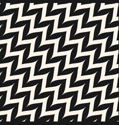 Zigzag diagonal chevron seamless curved pattern vector