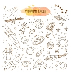 Astronomy Hand Drawn vector image