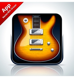 Guitar musical app icon vector image vector image