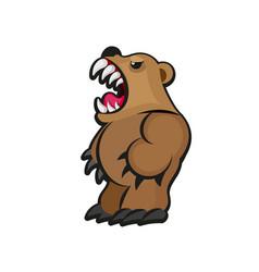 little teddy bear character vector image vector image