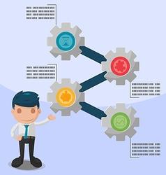 Man Cartoon Presentation Info Graphic Template vector image vector image