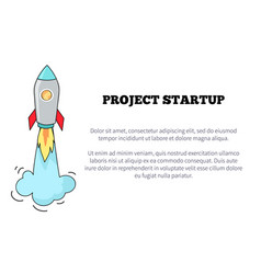 project startup image and text vector image vector image