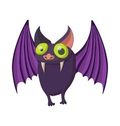 Purple bat icon cartoon style vector