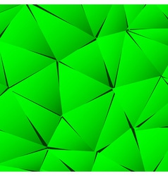 Abstract green paper triangle background vector image vector image