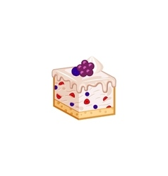Berries mousse cake vector image vector image