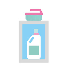 detergent bottle with brush vector image