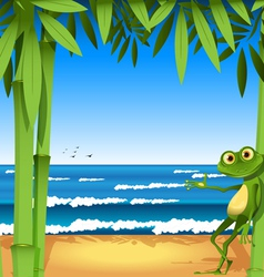 holiday frog vector image vector image