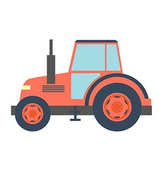 Transport flat tractor icon isolated on white vector image vector image
