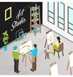 Art Studio Isometric vector image vector image