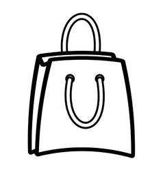bag shopping paper isolated icon vector image