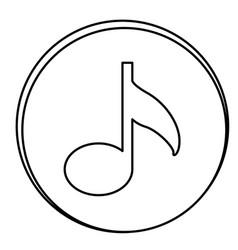 figure music emblem icon vector image