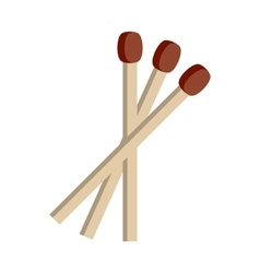 Flat matches icon vector image
