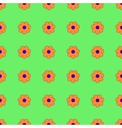 Flowers geometric seamless pattern 1803 vector image