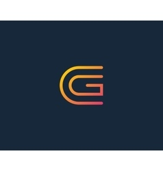 Line letter G logotype Abstract moving airy logo vector image vector image