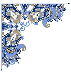 ornate card announcement frame element vector image vector image