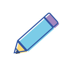 Pencil school tool to writing and learn vector