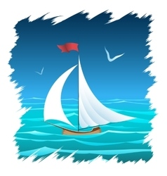 The Floating Sailboat vector image