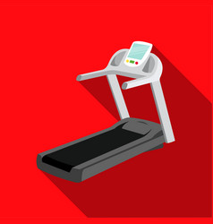 treadmill icon flate single sport icon from the vector image vector image