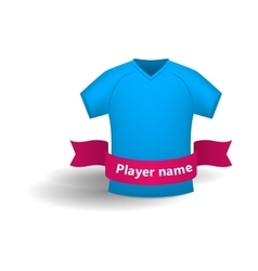 Blue sports shirt icon cartoon style vector image vector image
