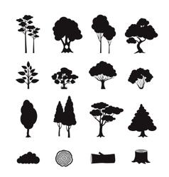 Forest Elements Black vector image vector image