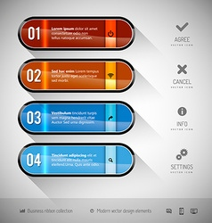 Glossy Banners vector image