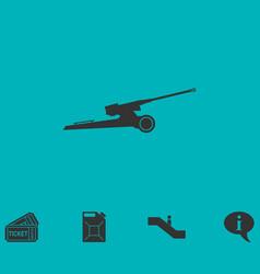 howitzer icon flat vector image
