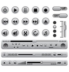 Media players vector image vector image