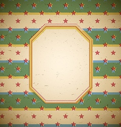 Retro frame with stars vector image vector image