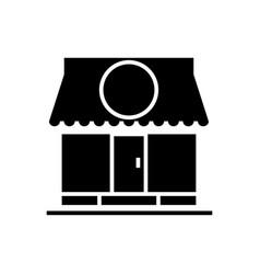 shop - store icon black sign vector image vector image
