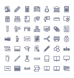 49 education icons vector