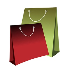 A pair of shopping bags vector