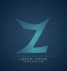 abstract creative dots logo letter Z vector image