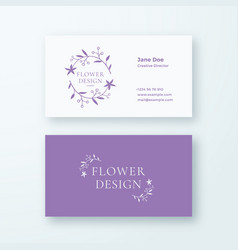 abstract feminine flower branch sign or vector image