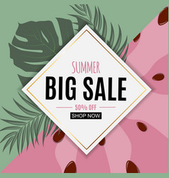 Abstract summer sale background with fresh fruits vector