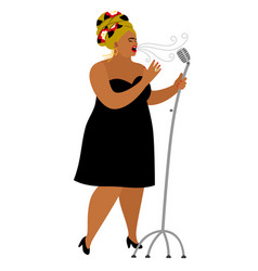 Afro american woman performance songstress jazz vector