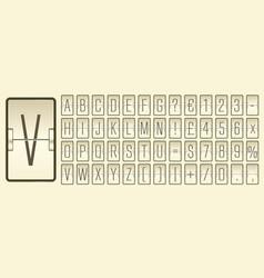 Airport flip board alphabet for flight departure vector