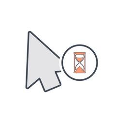 arrow busy cursor mouse pointer icon vector image