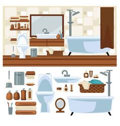 bathroom decoration concept vector image