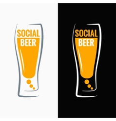 Beer glass social media concept background vector