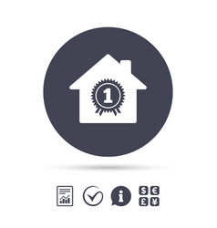 Best home first place award icon vector