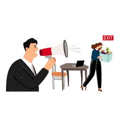 boss fires employee vector image