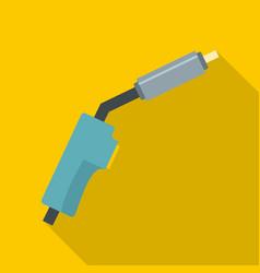 burning gas icon flat style vector image